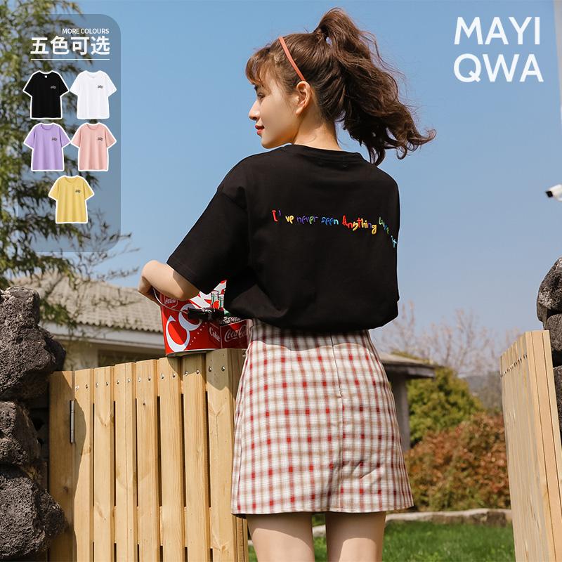 短袖2021年夏季新款韩版女装潮t恤
