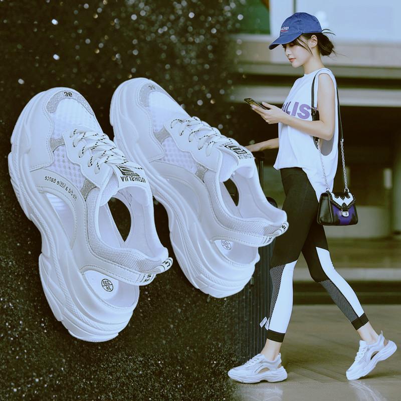 (用5元券)凉鞋女2019夏季新款韩版镂空透气洞洞鞋仙女风平底罗马鞋运动凉鞋