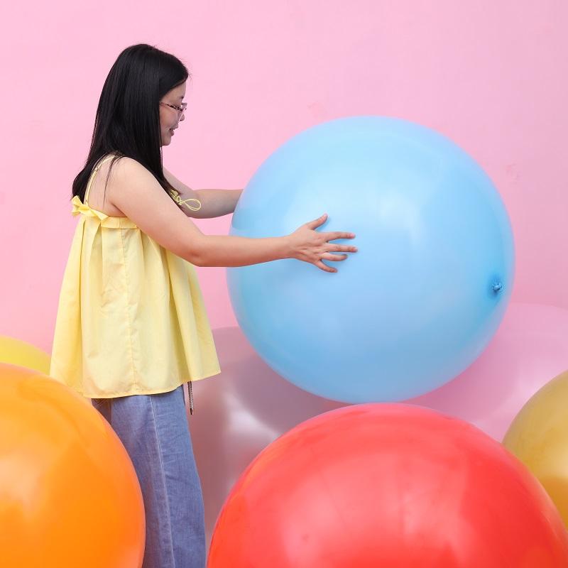 3.20元包邮泰国进口36英寸标准色正圆形乳胶气球 地爆球氦气球36寸大气球