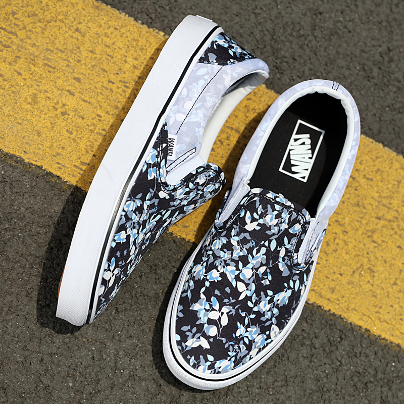 Genuine Vance mens shoes, womens shoes, low top casual board shoes, fashion canvas shoes, printing, lazy peoples sneakers