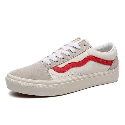 正品 万斯男鞋经典款帆布鞋低帮情侣鞋学生板鞋复古休闲鞋WS181
