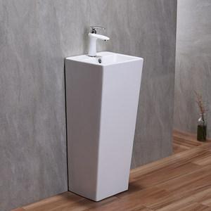 尚象卫浴陶瓷洗脸盆立式洗面盆阳台小洗手盆卫生间连体立柱盆