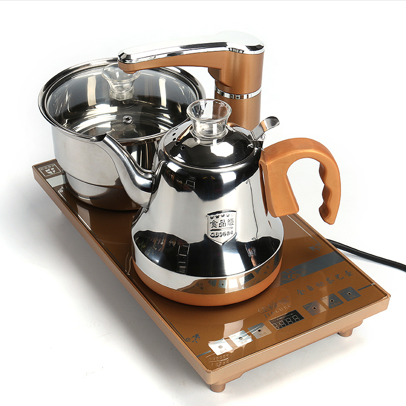 Kungfu tea set, tea tray, household set, automatic watering, four in one induction cooker, embedded flat appliance
