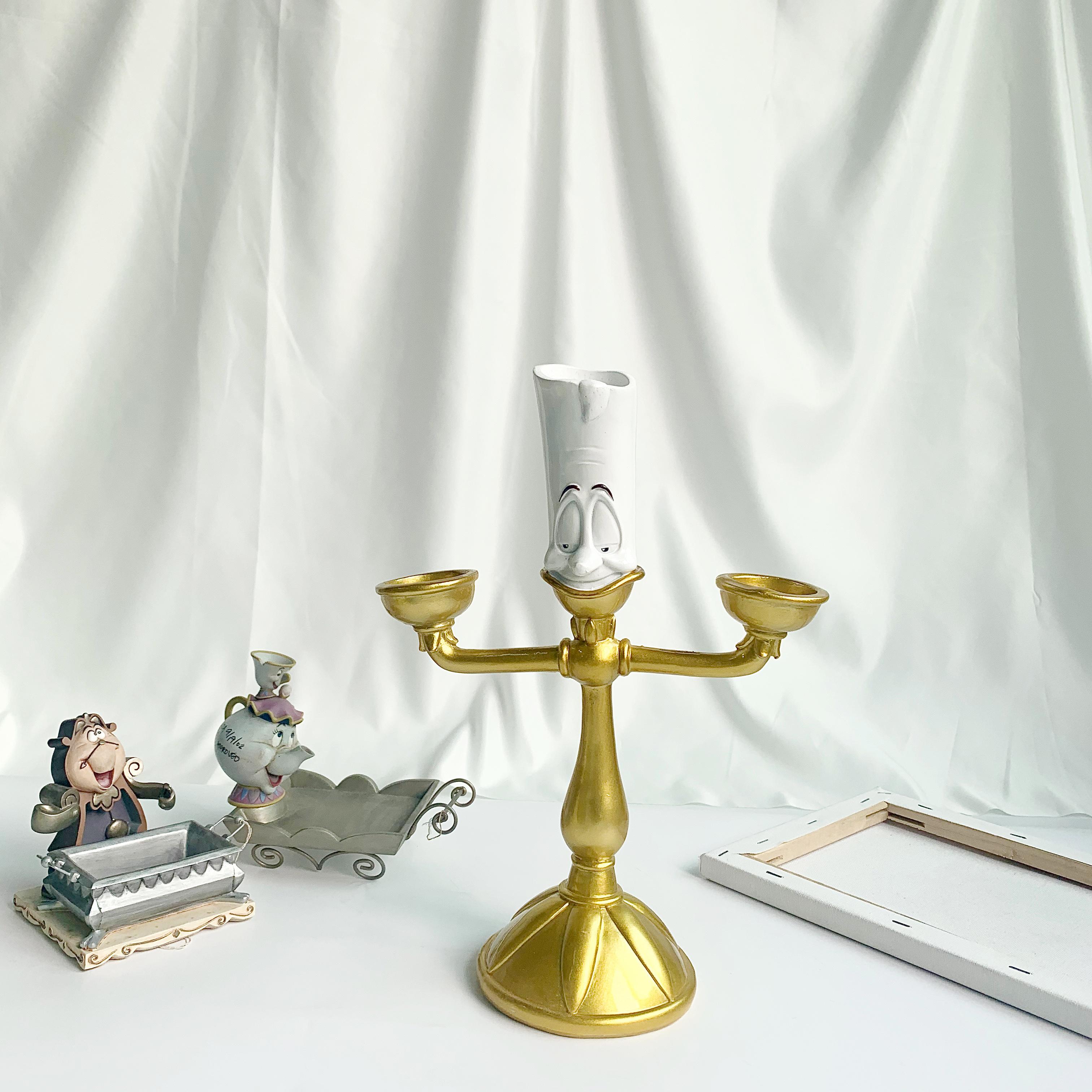 美女与野兽烛台卢米亚Lumiere烛台家居卧室房间装饰摆件生日礼物