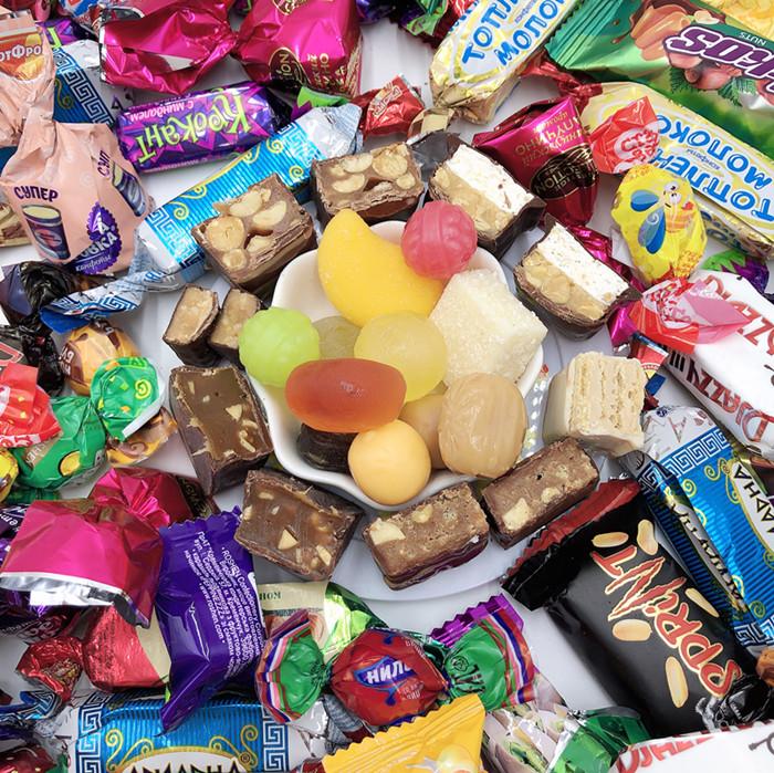 包邮俄罗斯进口混合装多口味巧克力糖果大礼包婚庆喜糖散装500克