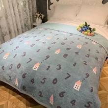 韩式短毛绒牛奶绒印花水洗斜纹棉卡通保暖绒毯床单绒垫床盖冬季