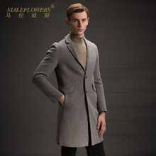 Male long business casual Alpaca coat