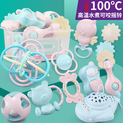 婴儿手摇铃玩具牙胶益智早教0-3个月宝宝6到1一岁幼儿新生5男女孩