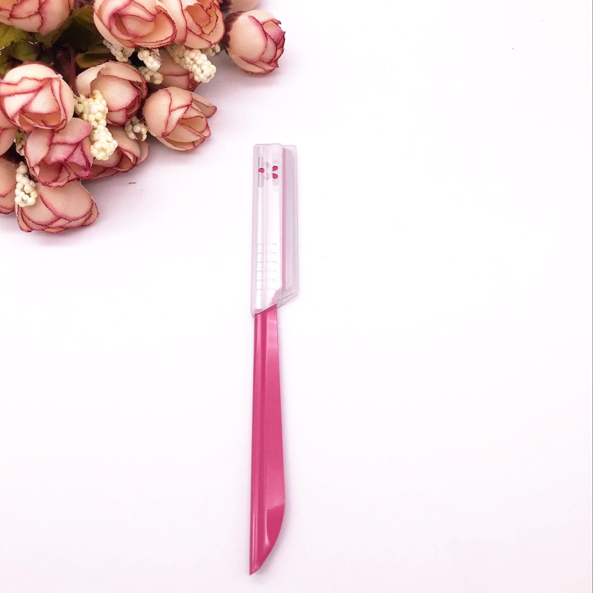 Япония KAI моллюск печать розовый подправлять брови нож нет безопасность чистый ремонт из больше сухой чистый ремонт из хорошо выглядит из бровь
