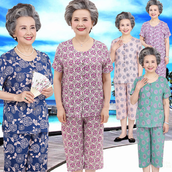 奶奶装老年人棉绸外穿60-70岁妈妈