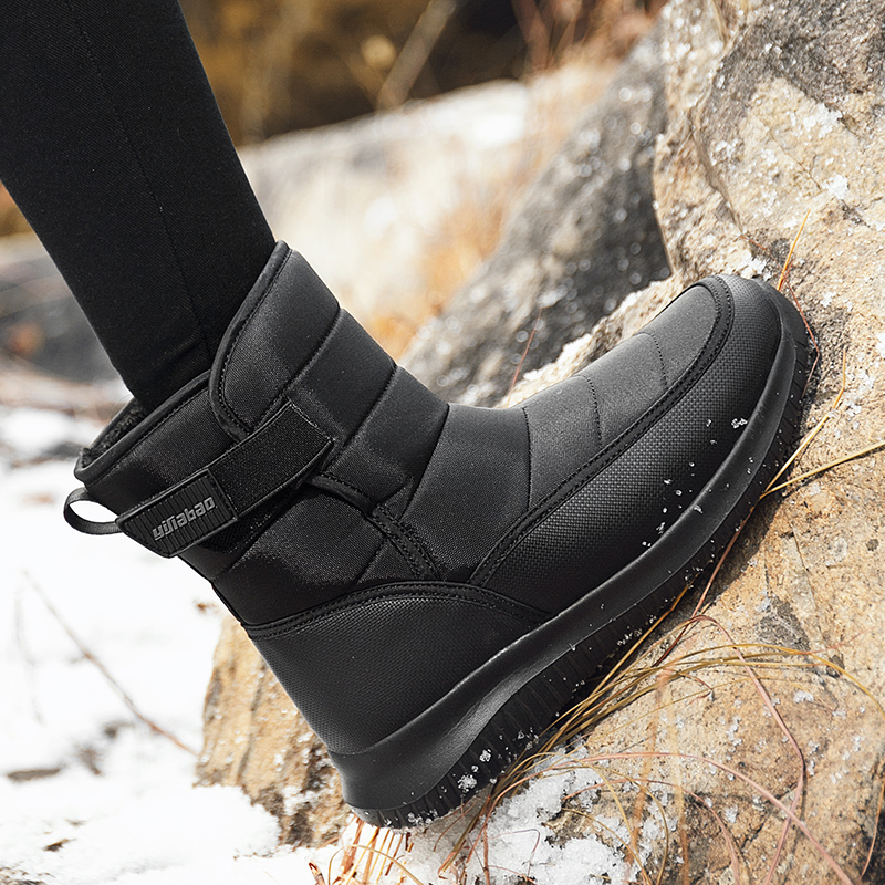 Yijiabao northeast tourism hiking leisure anti slip womens snow boots new light and comfortable flat cotton shoes