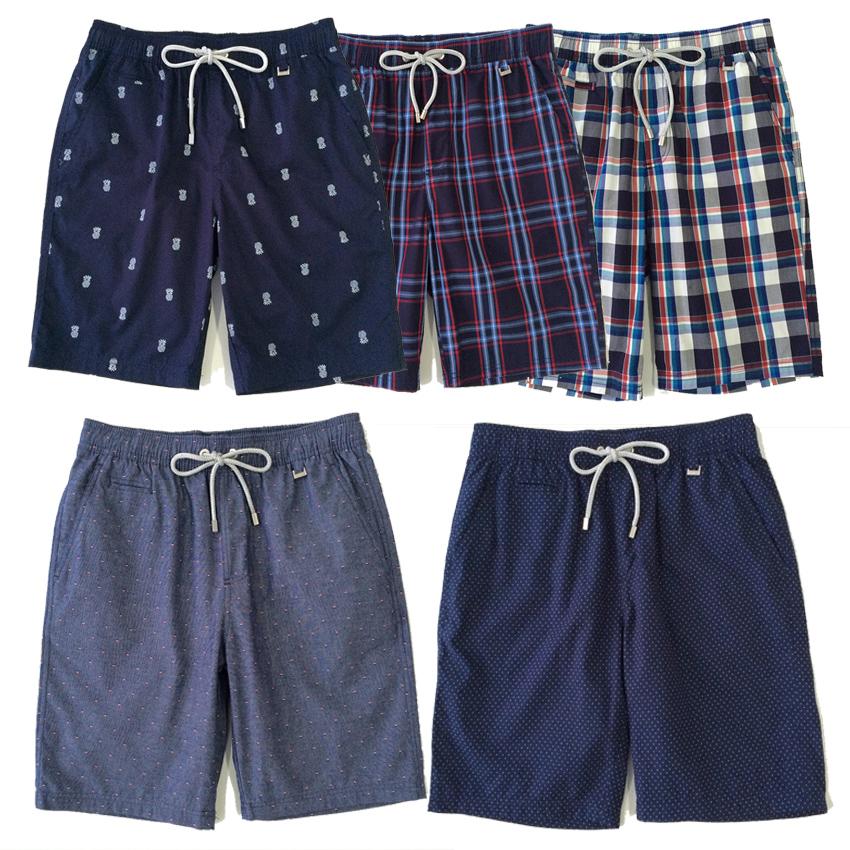 Genuine OSHA Oxyde pure cotton beach underpants mens casual shorts loose Plaid 5-point pants