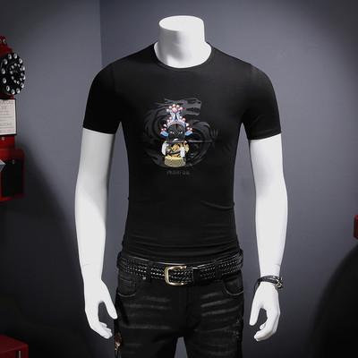 2018夏季新款 中国风 莫代尔丝光棉 短袖T恤M8585-P65 控价88