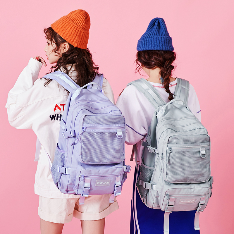 Junior high school schoolbag female Korean version high school campus backpack college student simple Forest Department large capacity backpack male