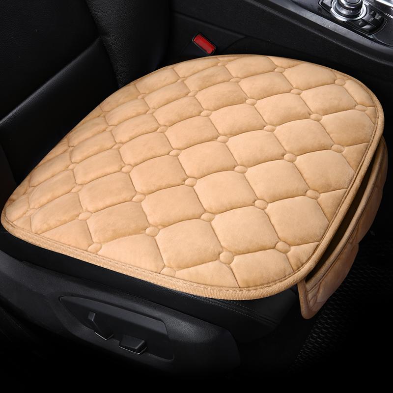 汽车坐垫冬季短毛绒三件套无靠背防滑冬天后排通用车座垫保暖单片