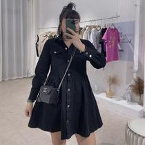 加肥加大码女装2020年新款春夏季胖mm遮跨中长款显瘦长袖连衣裙子