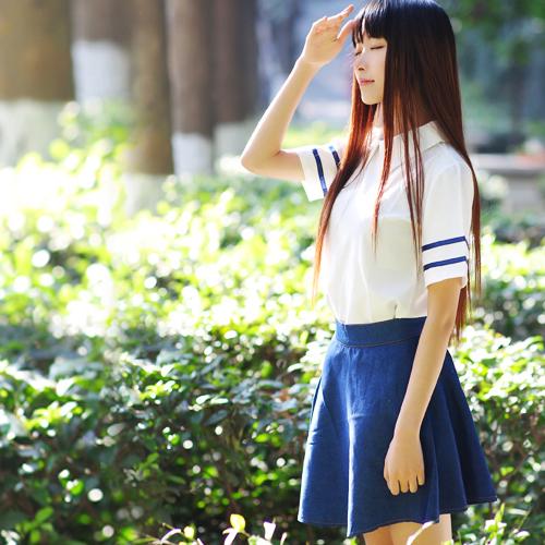 英伦海军风水手服连衣裙日系校服JK制服学生装COS班服学院风套装