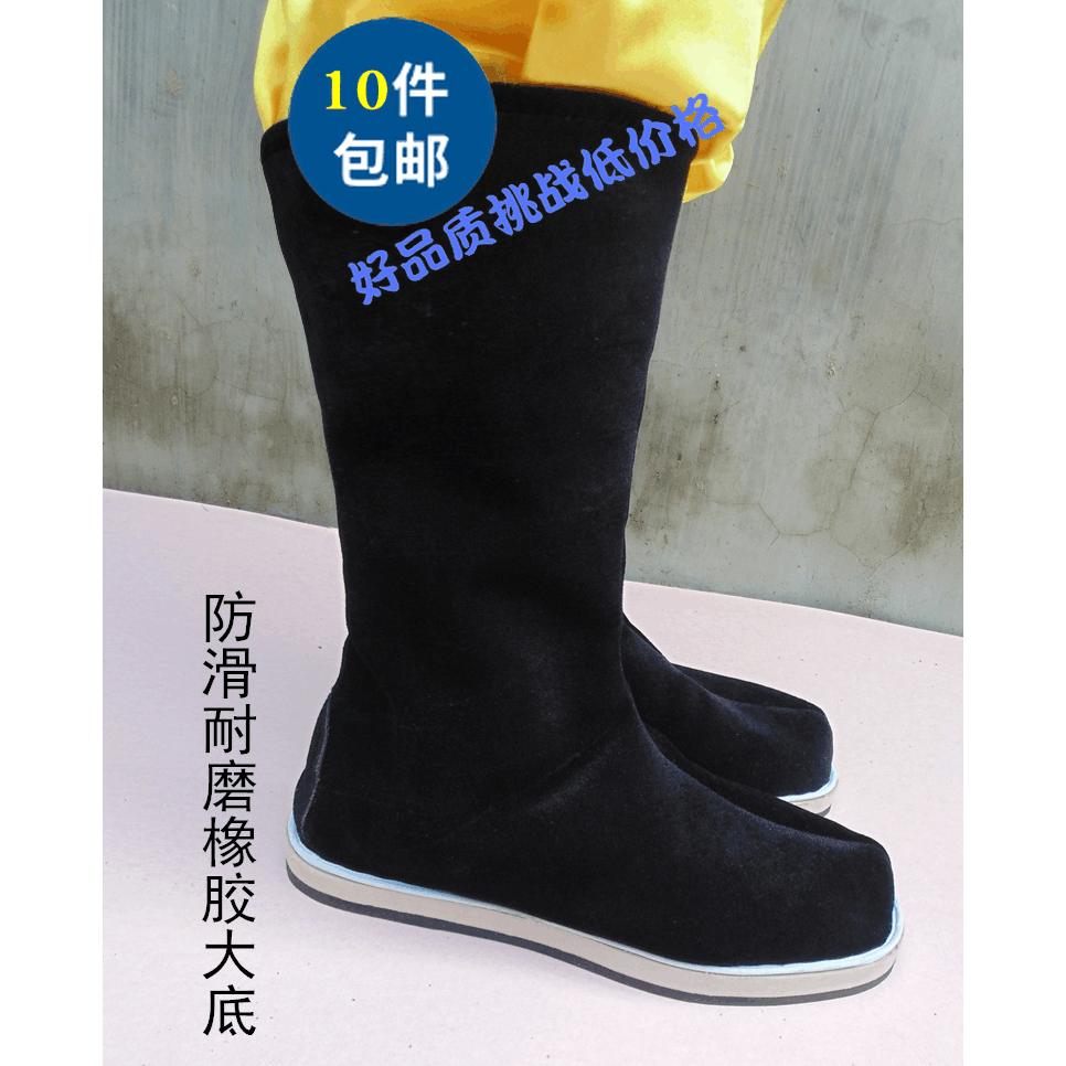 Древний костюм Hanfu сапоги мужской Чжугэ Лян Обувь Министр Ученые Китайская длинная оперная драма поколение Книжный мальчик сапоги