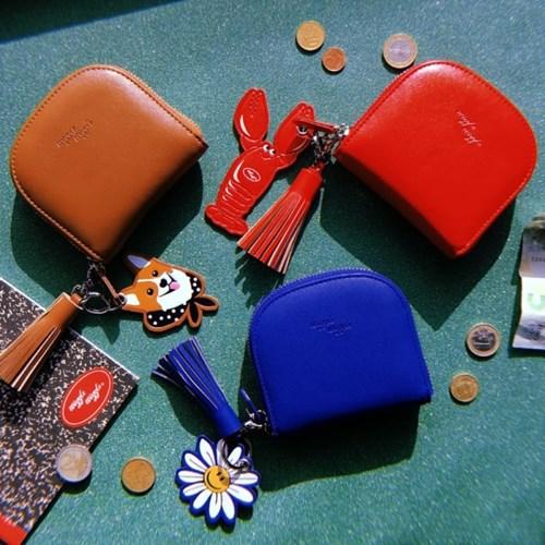 wiggle韩国短款拉链钱包小时尚潮范钥匙扣挂件卡包女可爱小零钱包