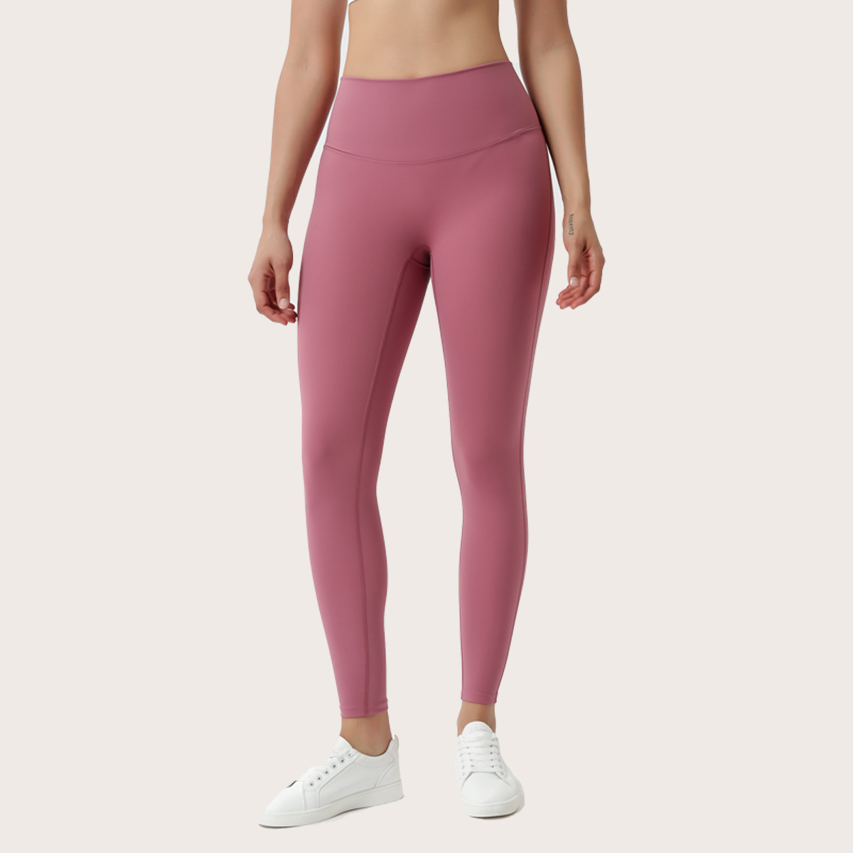 Lululemon Yoga high waist, hip lift, nude feeling, no embarrassment line, tight and quick drying, 9-point pants, no trace fitness suit