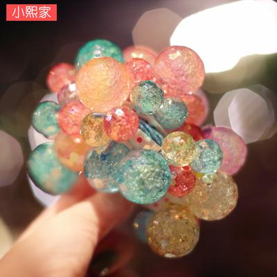 韩国进口儿童发饰果冻色气泡球球皮筋亚克力球扎头绳女孩女童发绳