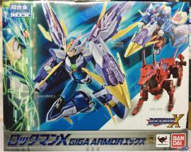 模型万代 超合金 洛克人X GIGA ARMOR 模玩桌面摆件收藏