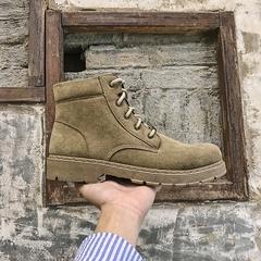 秋冬加厚港风男鞋马丁靴工装靴反绒靴子 XZ914-1-XZ01-P75控价98