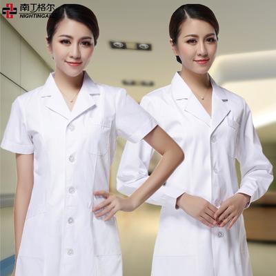 白大褂长袖 医生服 女护士服短袖医用白大褂医生服男实验服工作服