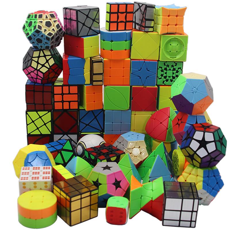 异形魔方全套解压玩具比赛专用一二阶五魔圆柱斜转金字塔齿轮魔方