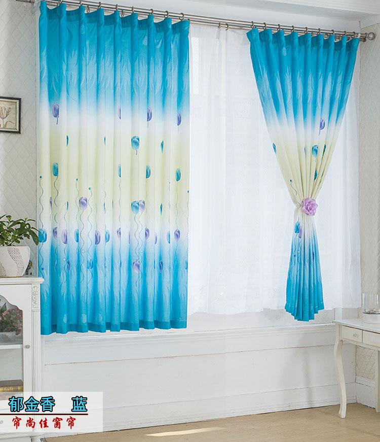 Вертикальный узор модель тюльпаны синий