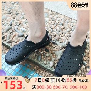 Crocs凉鞋卡骆驰2020新款男士LiteRide徒步缓震系带鞋204967-066