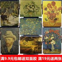 成品北欧《塞纳河》莫奈客厅装饰画原版包邮名画有框酒店卧室油画