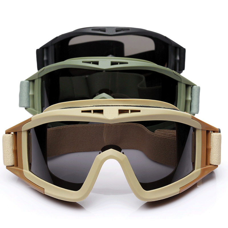 包邮户外CS眼镜沙漠战术风镜护目镜军迷防风防雾防爆装备三片装