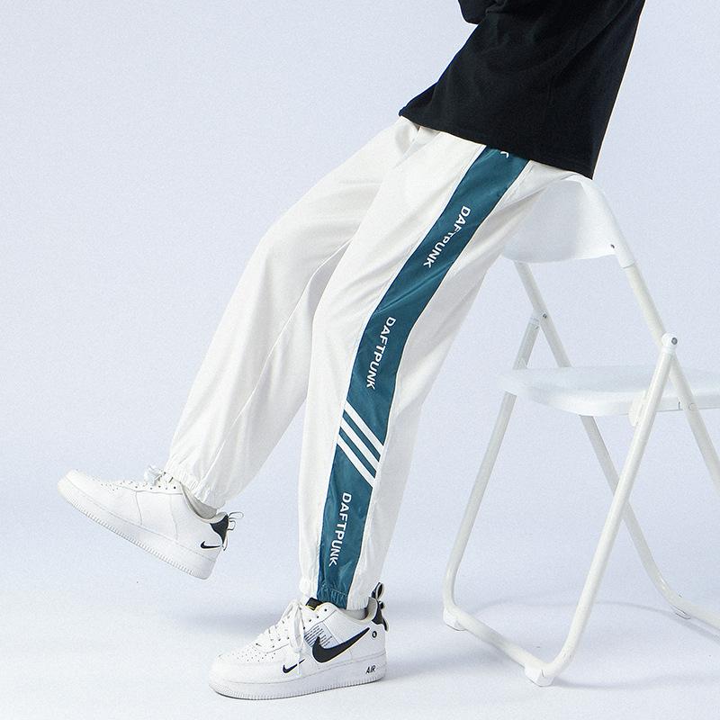 CYGNENOIR 2021FW美式休闲学院风撞色束脚裤情侣束绳运动裤三色