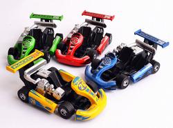合金跑跑卡丁车模型精致仿真跑车回力赛车儿童玩具长13CM蛋糕摆设