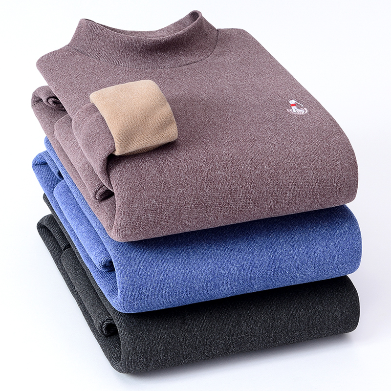 George Golf mens round neck autumn winter Pullover mens sweater middle age casual bottoming sweater warm top