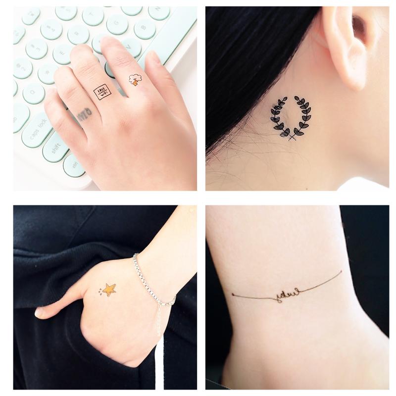 满1.80元可用1元优惠券韩国时尚 夏日可爱纹身贴 学生小清新彩色个性潮流纹身贴纸