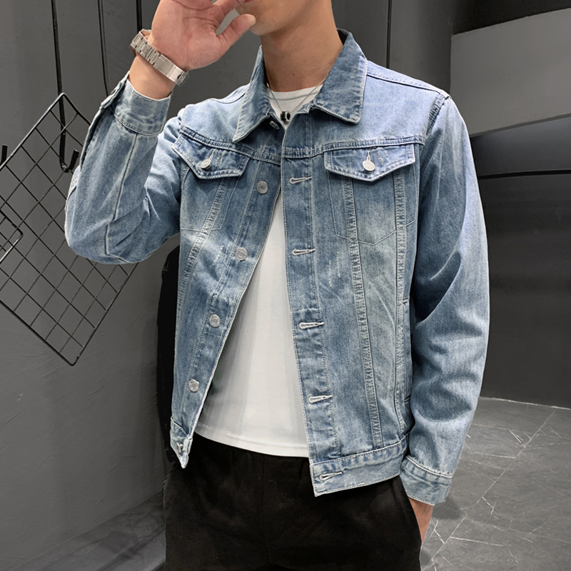 Men's denim jacket men's spring spring and autumn Korean version of the trend tide InS tide card jacket spring summer thin section denim clothes