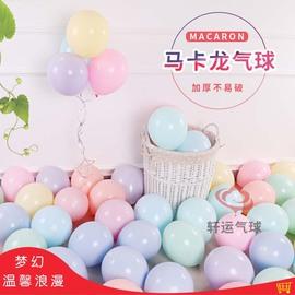 网红双层10寸马卡龙色气球创意婚礼结婚房间儿童生日派对场景布置图片