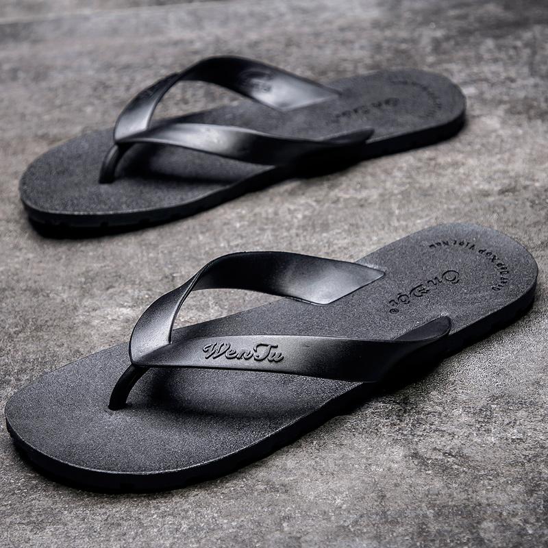买三送一拖鞋男潮流韩版时尚外穿越南人字拖男士拖鞋夏沙滩鞋室外凉拖防滑