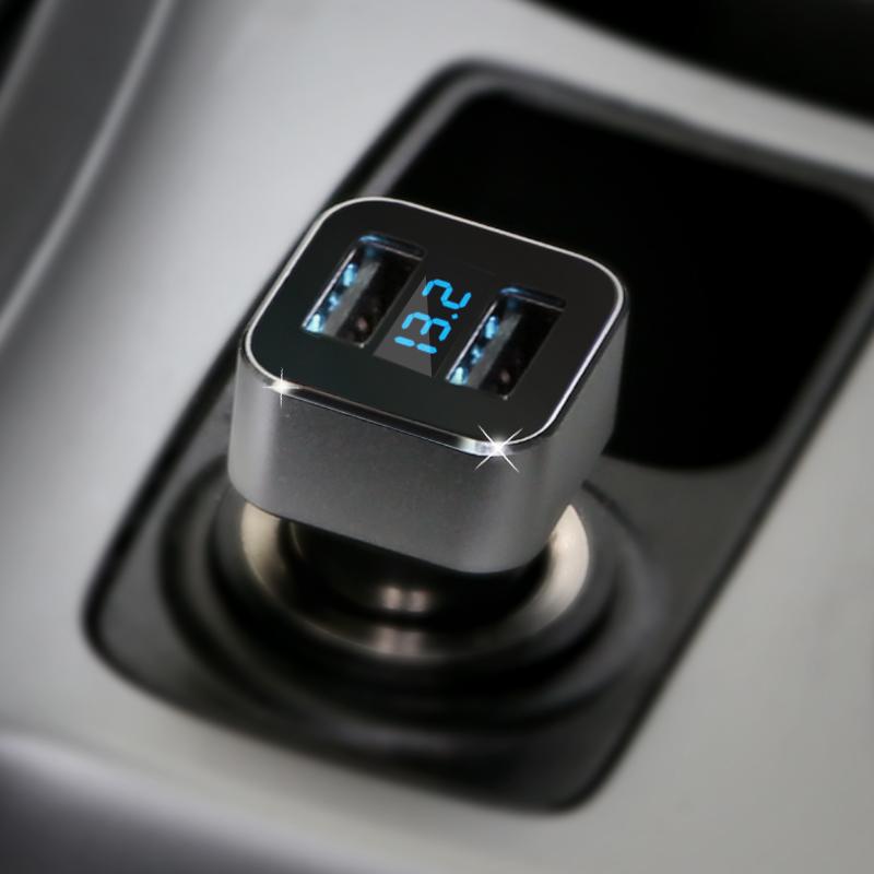 先科T17 車載手機充 雙USB 蘋果三星 汽車用點煙器車充
