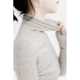 三良晨晨 莫兰迪羊毛高领修身打底衫女薄秋冬韩版长袖内搭毛衣新