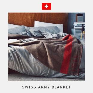 瑞士军版羊毛毯复古手工古法织造野营登山自驾户外急救毯居家床单