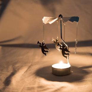 小物商店 自己会旋转的浪漫小烛台(蜡烛请自备) 两个包邮
