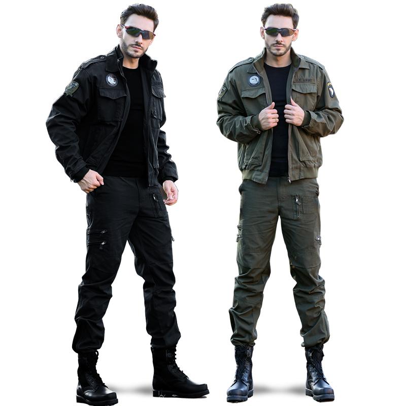 户外迷彩服套装男野战特种兵作训服军迷101空降师军装工装夹克套