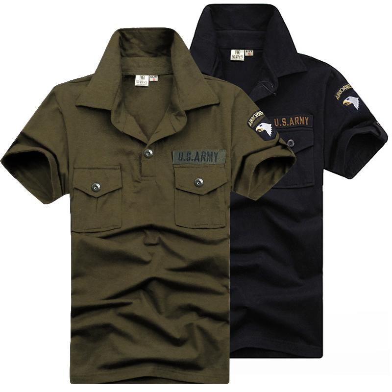 军野行户外运动军迷服饰夏季翻领短袖t恤男情侣修身体恤迷彩上衣