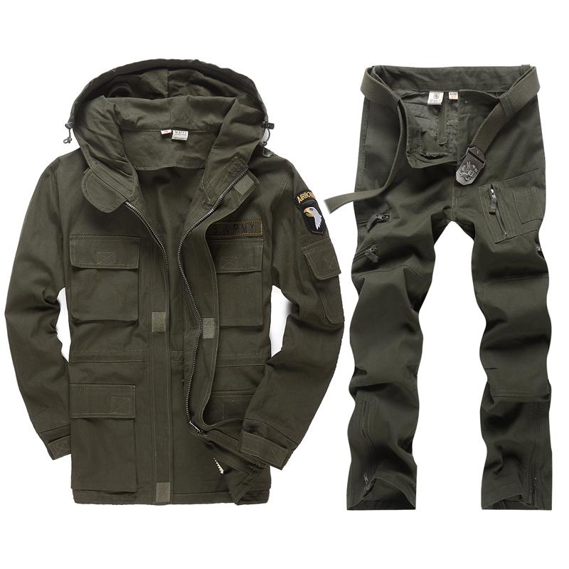 军野行户外秋冬军迷登山野战服101空降师特种兵迷彩服作训服套装