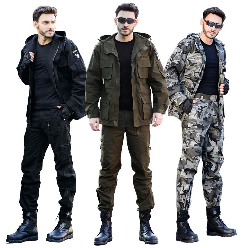 户外迷彩服套装男特种兵101空降师作训服军装野战军迷耐磨工作服
