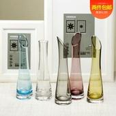 优雅鹤嘴瓶简约彩色系列玻璃花瓶水培一支花花器家居装饰插花花瓶