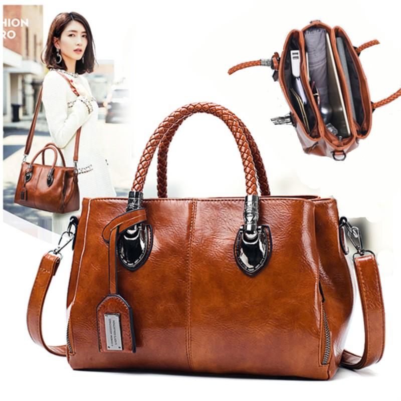 Womens bag new fashion Single Shoulder Messenger Handbag Korean version versatile autumn and winter womens leisure killer Boston pillow bag